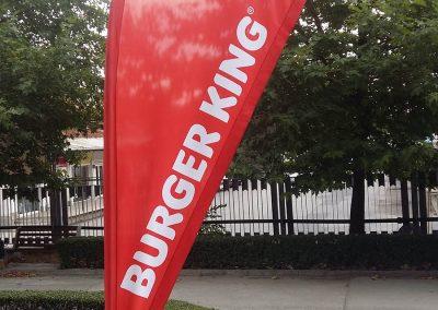 "плажно знаме ""Капка"" - Burger King"