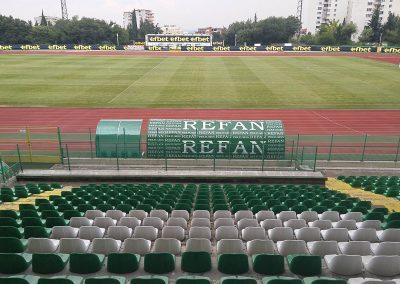 """външна реклама на """"Рефан"""" на стадион Берое, Стара Загора"""