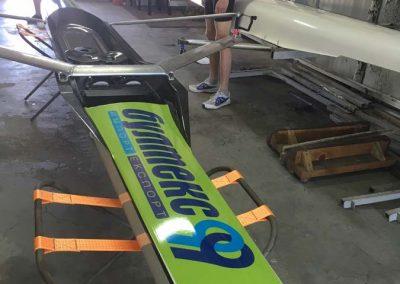 брандиране на лодка за академично гребане, фолио 3М