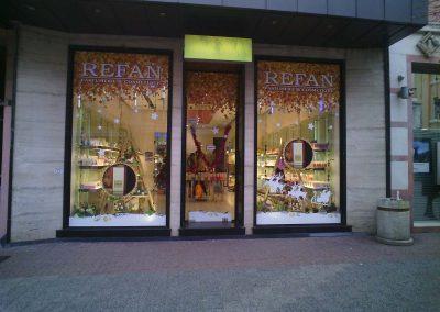 брандиране магазин на Рефан, Пловдив