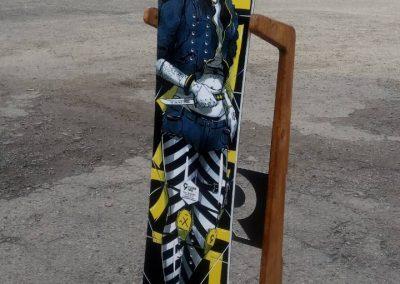 Сублимационен печат и трансфер на дъска за сноуборд.