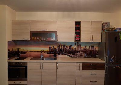 Kitchen unit backboard print, tempered glass, 6 mm