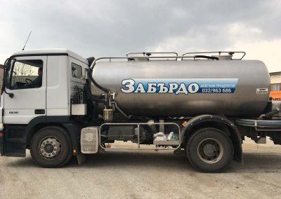 Milk tank vehicle branding