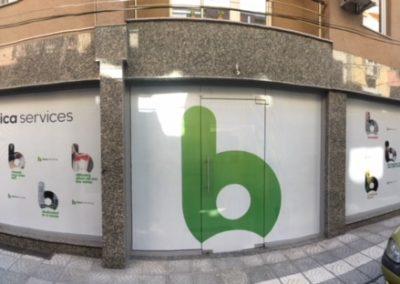 Office branding in Plovdiv, perforated foil