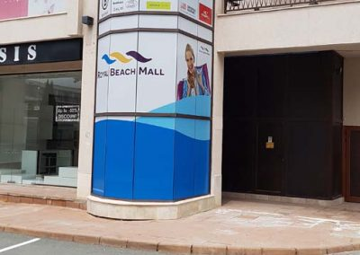 Branding with one way vision, Sunny Beach Mall