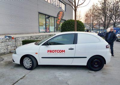 Брандиране на автомобили за партньорите ни от Frotcom.