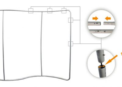 S - образна текстилна стена